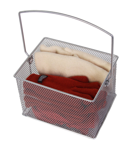 Save on ybm home mesh wire food storage organizer bin basket with handle for kitchen pantry cabinets bathroom laundry room closets garage rectangle metal farmhouse mesh basket 6 pack