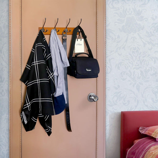 Order now webi 6 set metal triple 3 arm coat hat hook bath towel closet clothes hanger rail garment rack holder wall mount entryway kitchen home office garage organizer storage zinc alloy chrome finish mglg6