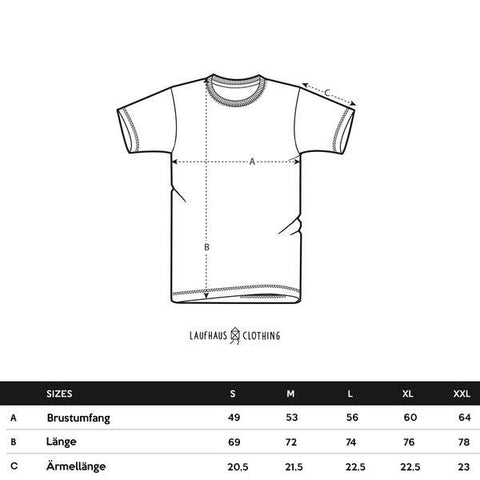 T Shirts - Size Guide