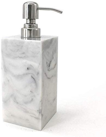 Natural Marble Liquid Soap Dispenser/Marble Shower Lotion Dispenser/Gel Dispenser/Liquid Shampoo Dispenser 200 ml