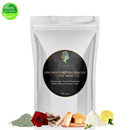 Chelure Pre Party Potion Powder Face pack Glamorous Glow $ Radiance100% Natural & Soap Free