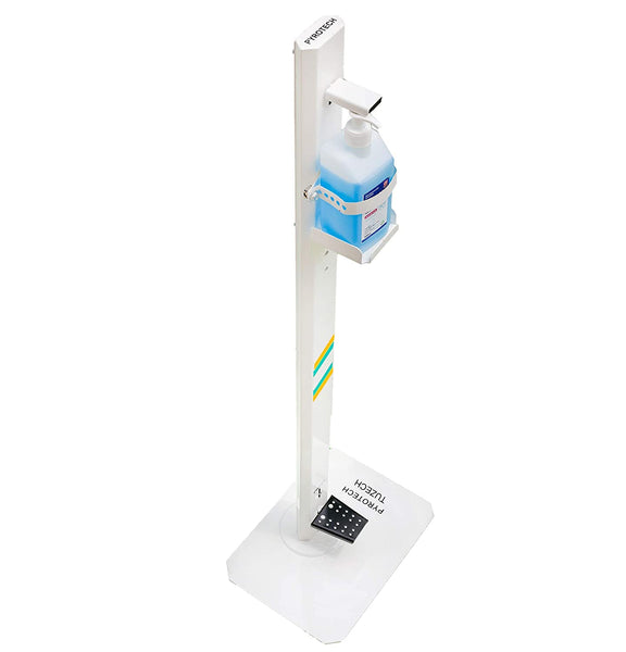 Foot Operated Hand Sanitizer Stand, Freestanding Fully Adjustable Hand Sanitizing Station For Commercial and Industrial Use - Non Corrosive Powder Paint MS Steel