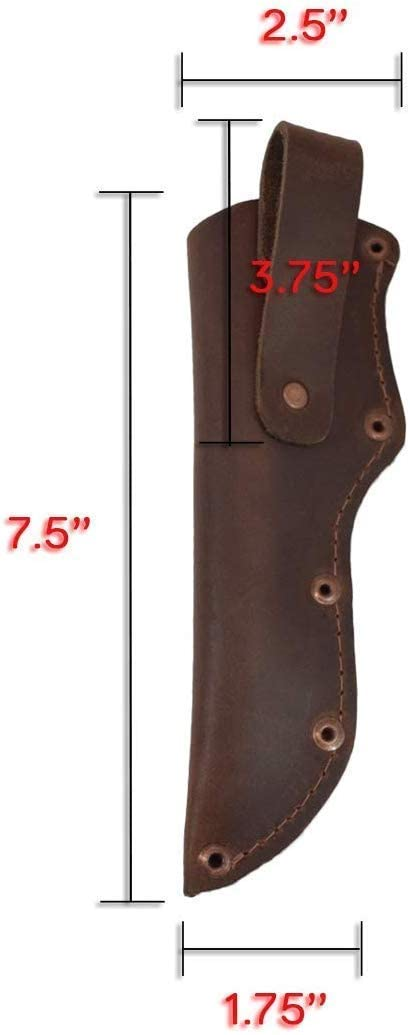 Leather Mora Knife Sheath w/Belt Loop Handmade KnivesBlade Hunting Knife Sheath Case Pouch (Brown)