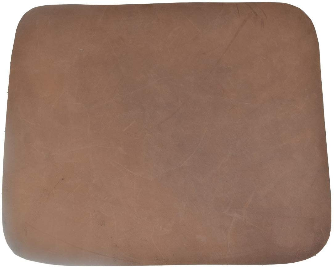 Thick Leather Durable Mouse Pad Office Essentials Handmade Leather Mouse Mice Pad Mat Smooth Surface (Brown)