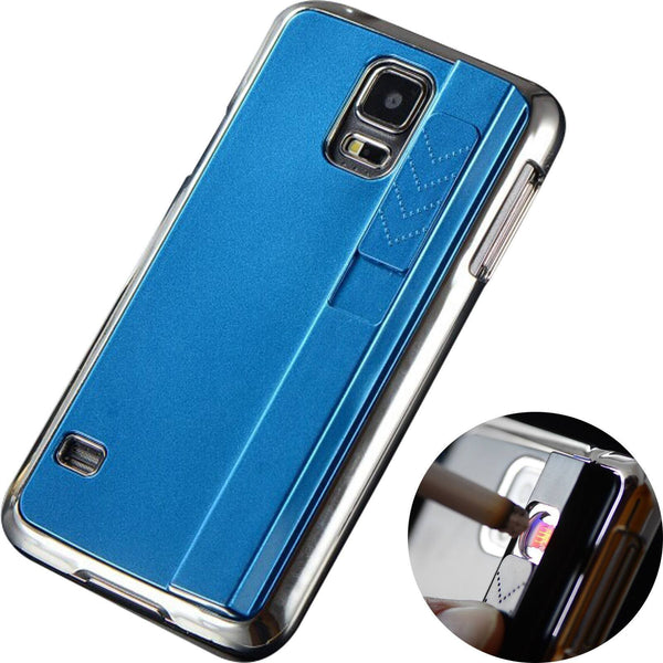 Back Cover - Fire / Lighter Case For Apple IPhone  (BLUE)