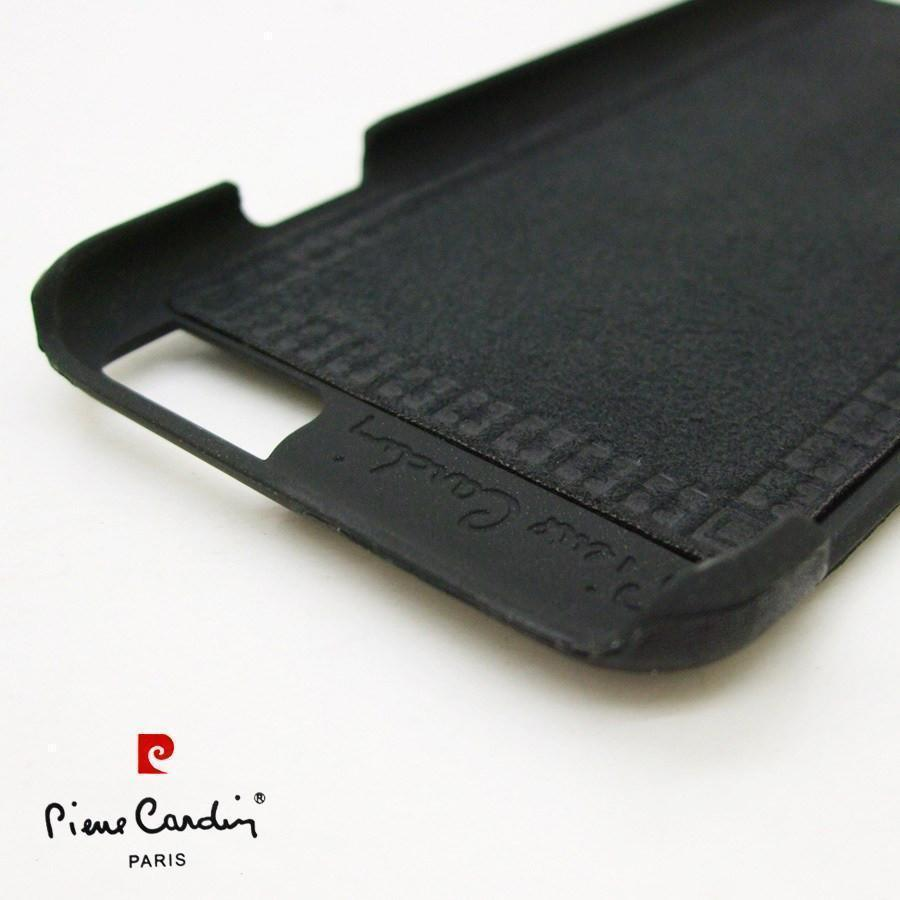 Back Cover - Original Pierre Cardin Case For Apple IPhone (ELEGANT BLACK)
