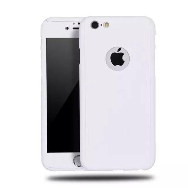 Back Cover - Tuzech IPhone 360 Smart Case With Logo Visible + Free Temper-guard (ELEGANT WHITE)