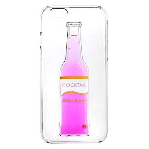 Back Cover - Tuzech Iphone 5/5S Liquid Rubber Case (Cocktail Bottle) Pink