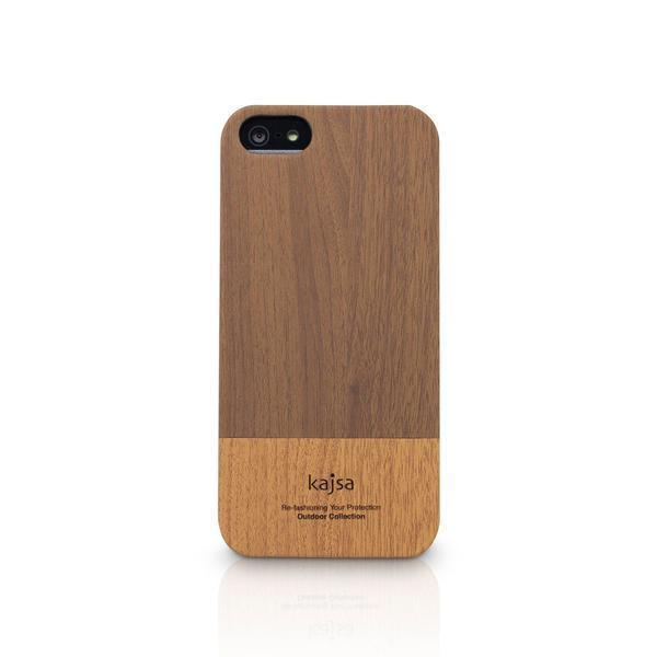 Back Cover - Wooden Finish Kajsa Leather Back Case For Apple IPhone 5 / 5S ( Free Screenguard)