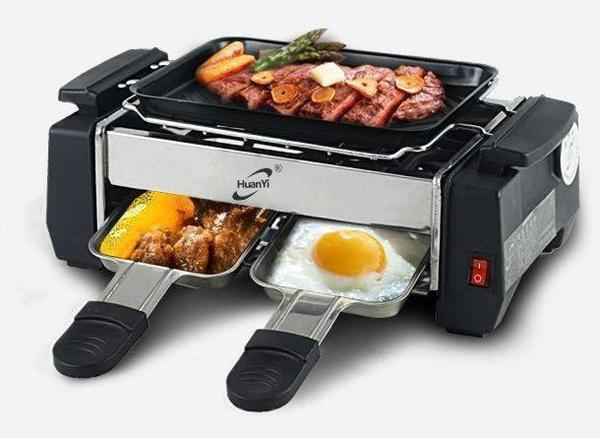 Barbeque Set - Tuzech All In One Mini 2-Plate Electric Barbeque