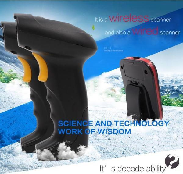 TUZECH Wireless Laser Handheld Wireless Barcode Scanner - Scans From Mobile - With Flash And Mini Storage
