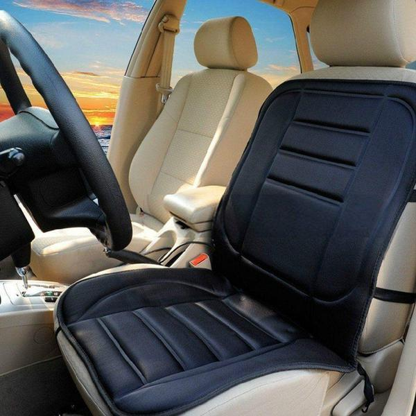 Car Seat - Universal Electronic Car And Home Heated Seat Cover For Back Ache,Waist Ache Or Cold