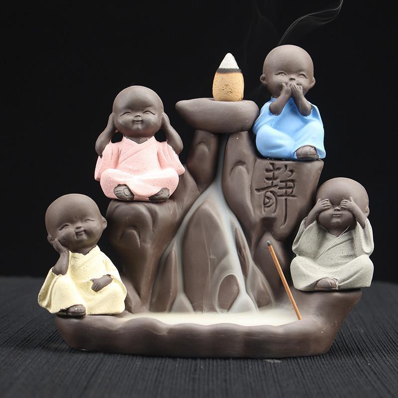 Incense Burner - Gandhiji Styled Stress Releiver Backflow Incense Holder Peace Giving