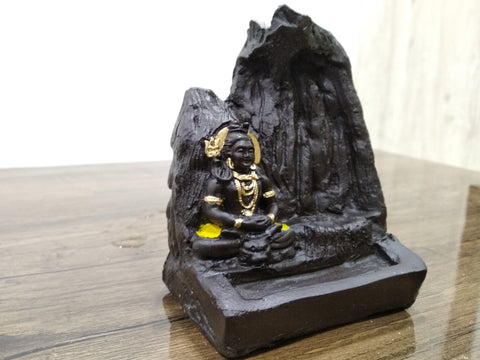 Incense Burner - Lord SHIVA Bhole Nath Smoke Reverse Backflow Cone Incense Holder Decorative Showpiece