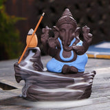 Incense Burner - TUZECH Lord Ganesh/Ganesha Backflow Reverse Incense Burner Holder Incense Cone Holder
