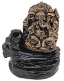 Incense Burner - Tuzech Meditating Buddha Ganesha Style Smoke Backflow Cone Incense Holder Decorative Showpiece