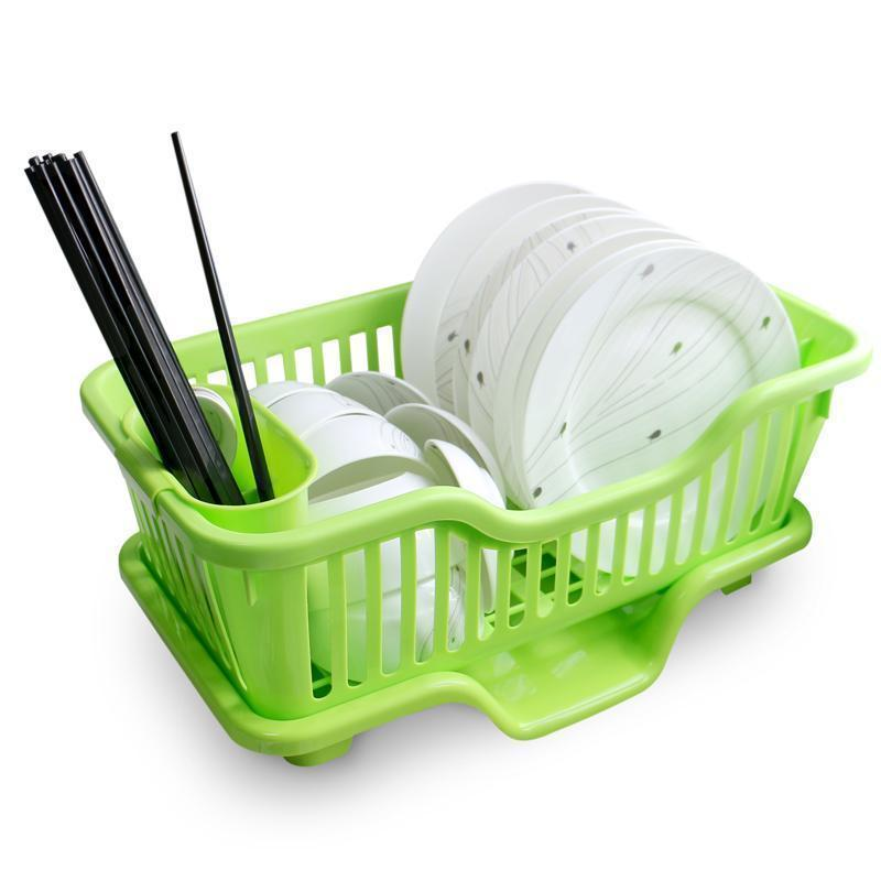 Large Sized Utensils Holder And Drainer With Racks