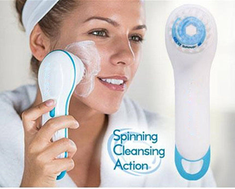 Massager - 2 In 1 Waterproof Wireless Spin Spa Brush ( Facial Massage And Cleaning) ( ON SALE)