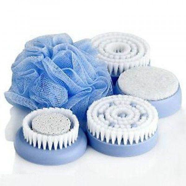 Massager - 5 In 1 Waterproof-Wireless Spin Spa Brush Bathing System ( ON SALE)