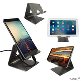 Mobile Holder - Mobile Phone Metal Stand / Holder For Smartphones And Tablet - Antique Silver (Proudly MADE IN INDIA)