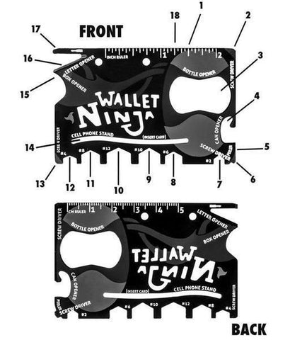 Office Tool - Tuzech 18 Tools In 1 Wallet Ninja Toolkit Credit Card Size - Set Of 2 Piece
