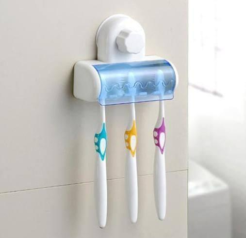 Wall ToothBrush Holder With Suction Holder - Set Of 2