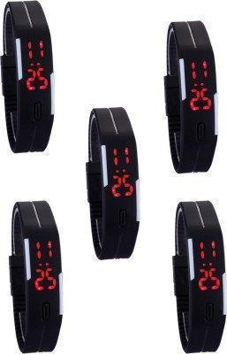 Watches - Sports Waterproof Led Watch - Set Of 5  ( For Men And Women)