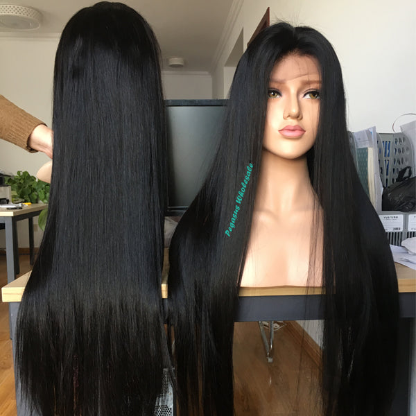 Silky Straight Brazilian Human Hair Wig (Full lace wig/Lace front wig/360  lace wig)