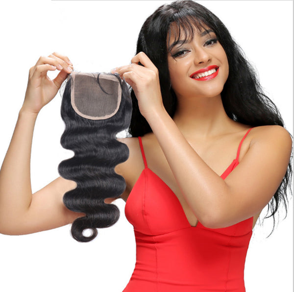 wholesale low price brazilian human hair lace top closure