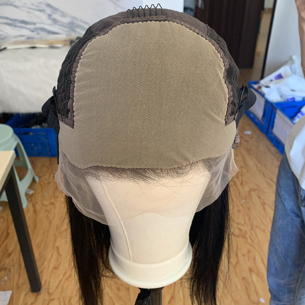 370 lace front wig fake scalp wig