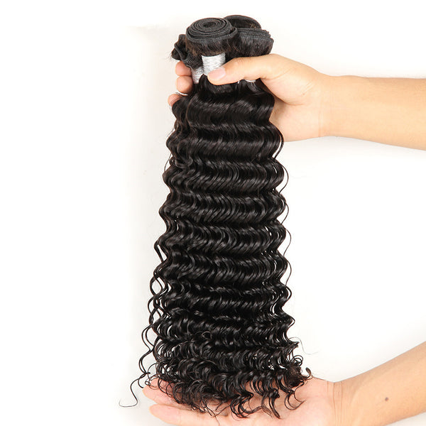cheapest lowest price deep wave brazilian remy human hair extensions weave