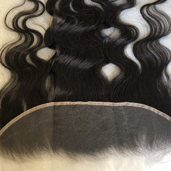 HD lace swiss lace frontal closure 13X4 body wave brazilian virgin human hair