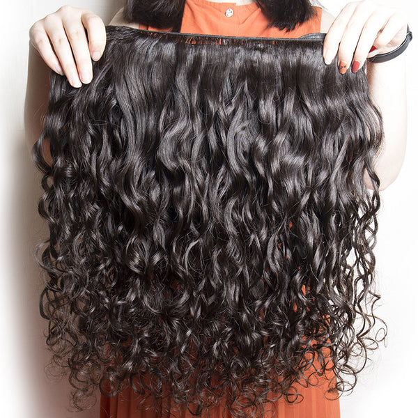 water wave brazilian virgin human hair extensions wet wave wholesale