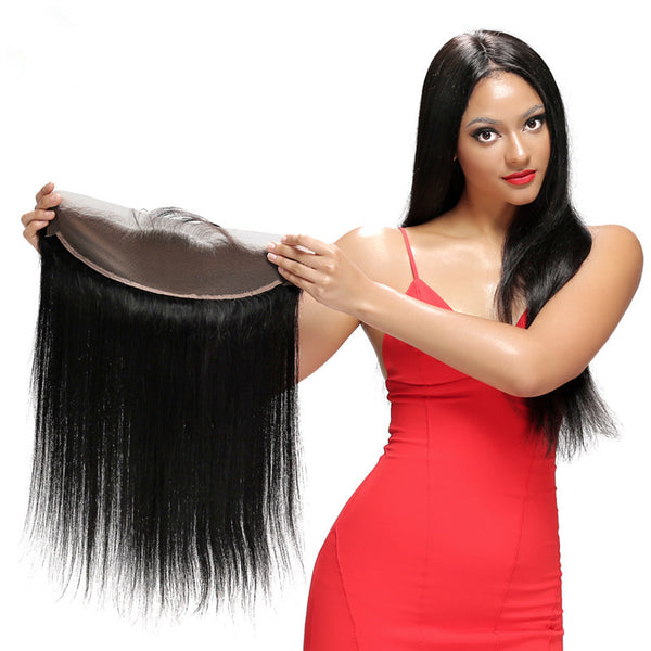 wholesale bulk low price brazilian human hair lace frontal straight
