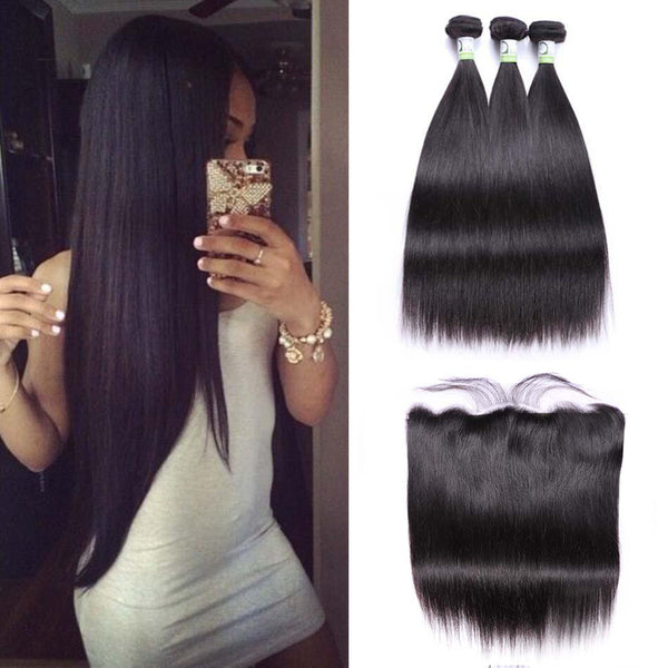 HD Lace High Definition Swiss Lace 13x4 Lace Frontal Closure With Bundles