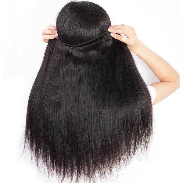 Brazilian Straight 100% Human Hair Weave Bundles Hair Extensions