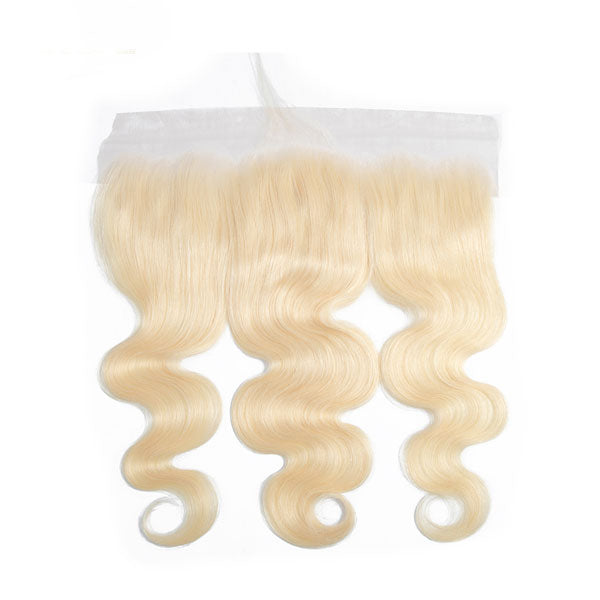 13x6 Lace Frontal 613 Blonde Brazilian Remy Human Hair Body Wave Swiss Lace