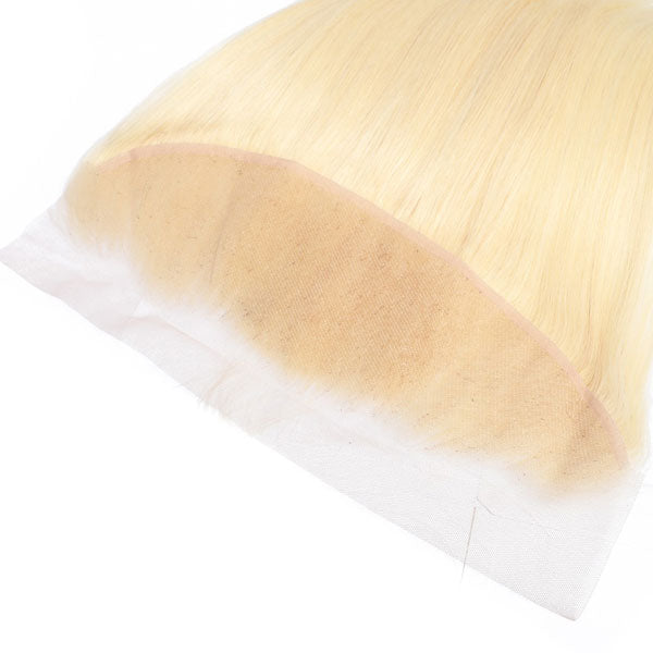 Remy Brazilian Body Wave Blonde Color Ear to Ear Human Hair
