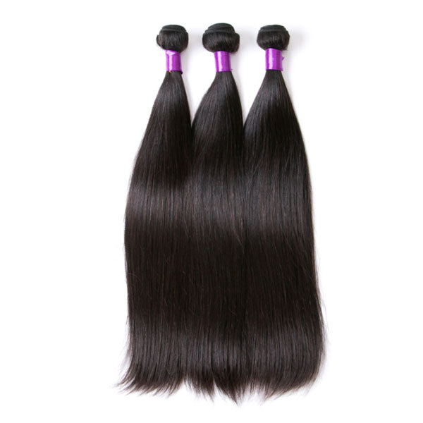 Peruvian Straight Hair Bundles Natural Color