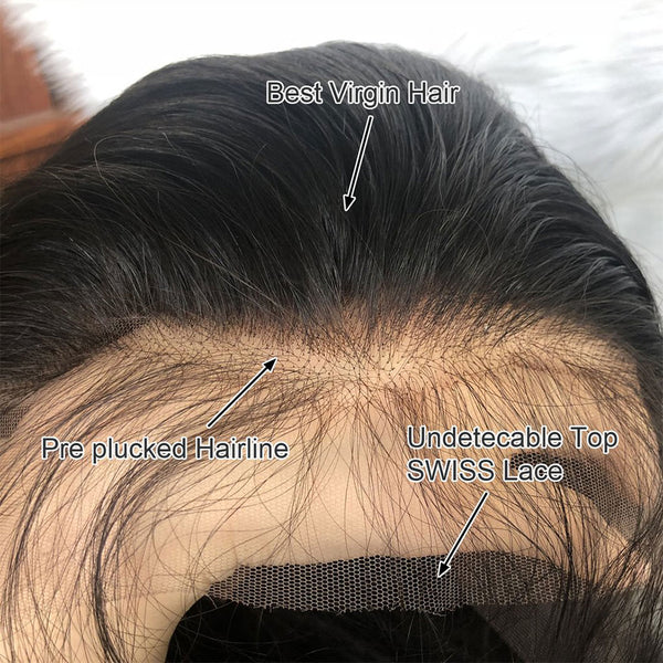 HD lace closure frontal wig