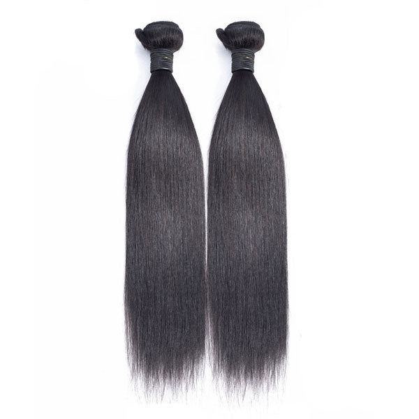 peruvian virgin hair straight 2 bundles