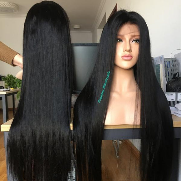 Silky Straight Brazilian Human Hair Wig (Full lace wig/Lace front wig/360 lace wig) - pegasuswholesale