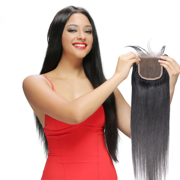wholesale straight human hair lace closure brazilian virgin hair