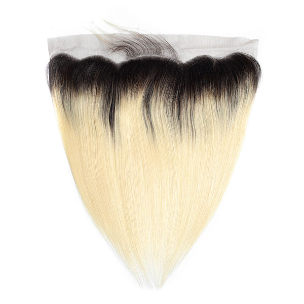 #613 Blonde Straight Ear to Ear 13x4 Lace Frontal preplucked - pegasuswholesale