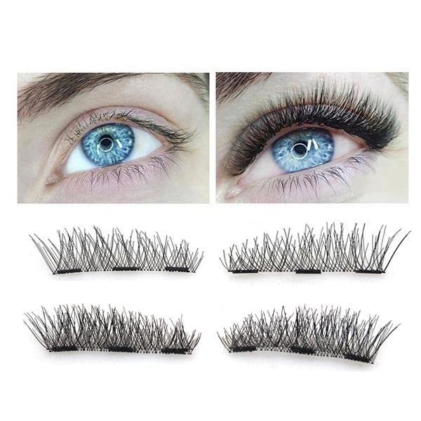 3D Magnetic eyelashes with 3 magnets handmade 【PEGE05】 - pegasuswholesale