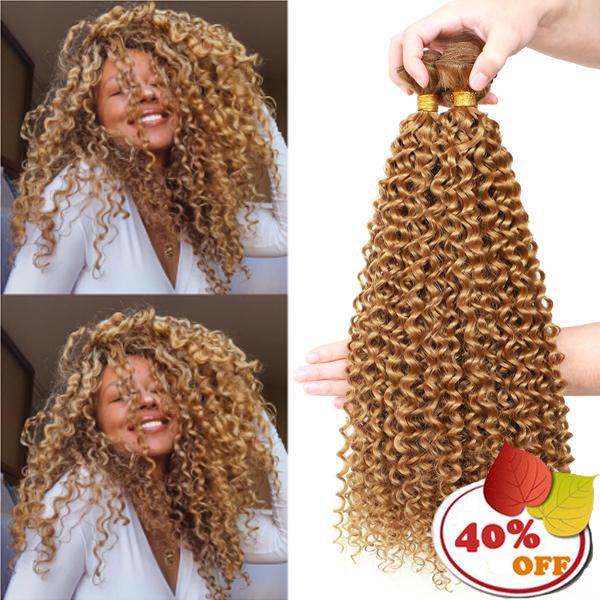 Afro Curly Bundles Hair 3/4pcs/pack (Black 613 Blonde #27 Color) - pegasuswholesale