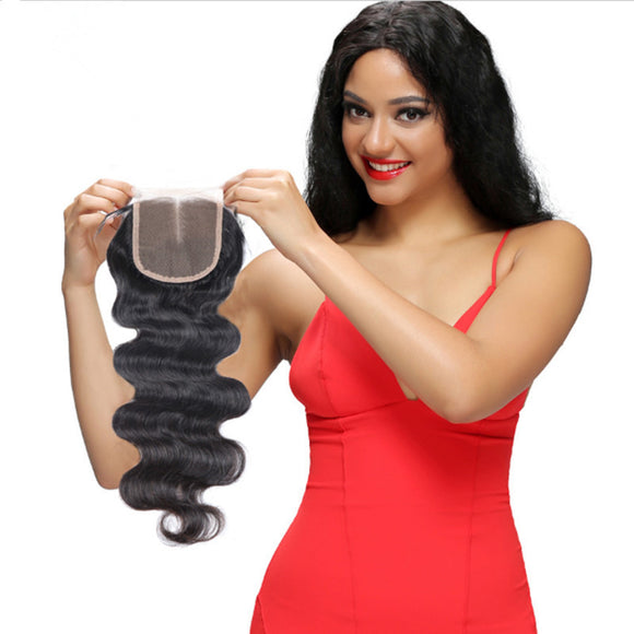 Wholesale 5PCS Brazilian Virgin Human Hair Lace Closure Body Wave - pegasuswholesale