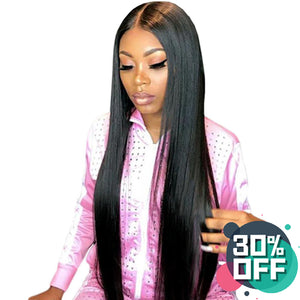 Pre-Made Fake Scalp Wig Human Hair Lace Front Wig Pre-Made Bold Cap Wig Straight Wig