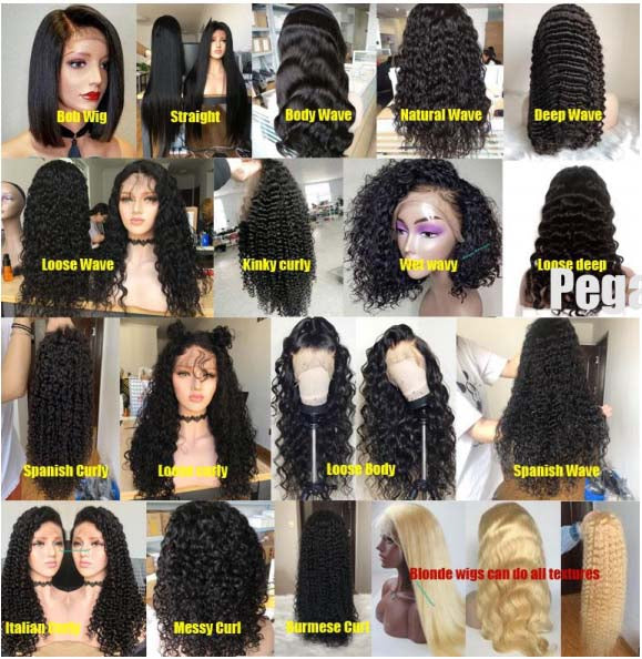 4 Wigs Transparent Lace Frontal Wig $850 Deal - pegasuswholesale