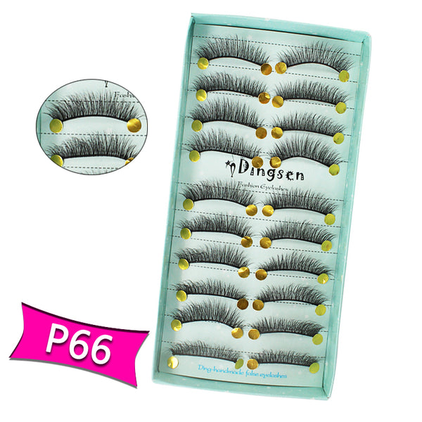 10 Pairs 3D Soft Faux Mink False Eyelashes Natural Messy 【PEGE01】 - pegasuswholesale